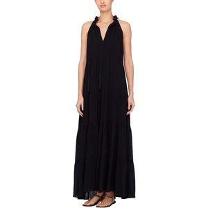Catherine Malandrino NWT Black Tassel Maxi Dress